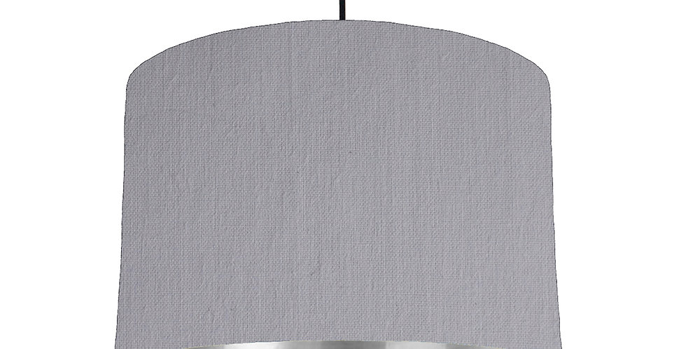 Light Grey & Silver Mirrored Lampshade - 30cm Wide
