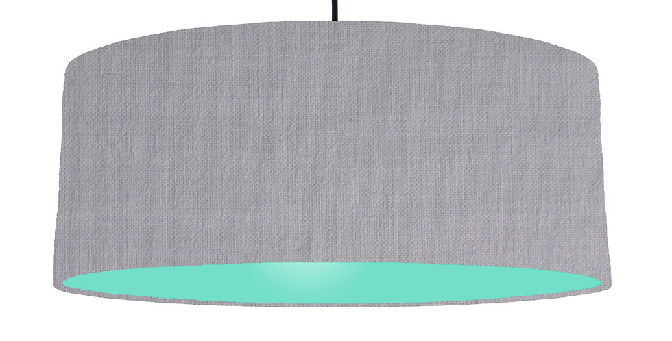 Light Grey & Mint Lampshade - 70cm Wide