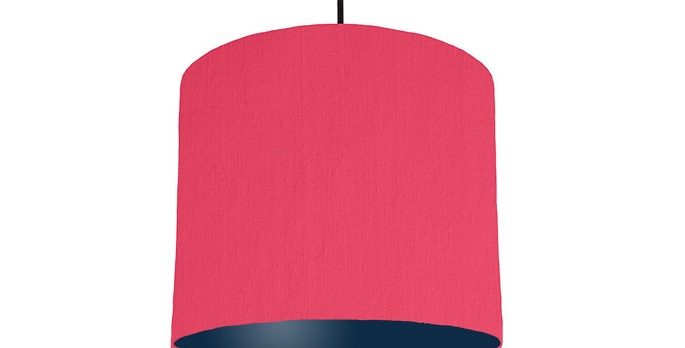 Cerise & Navy Lampshade - 25cm Wide