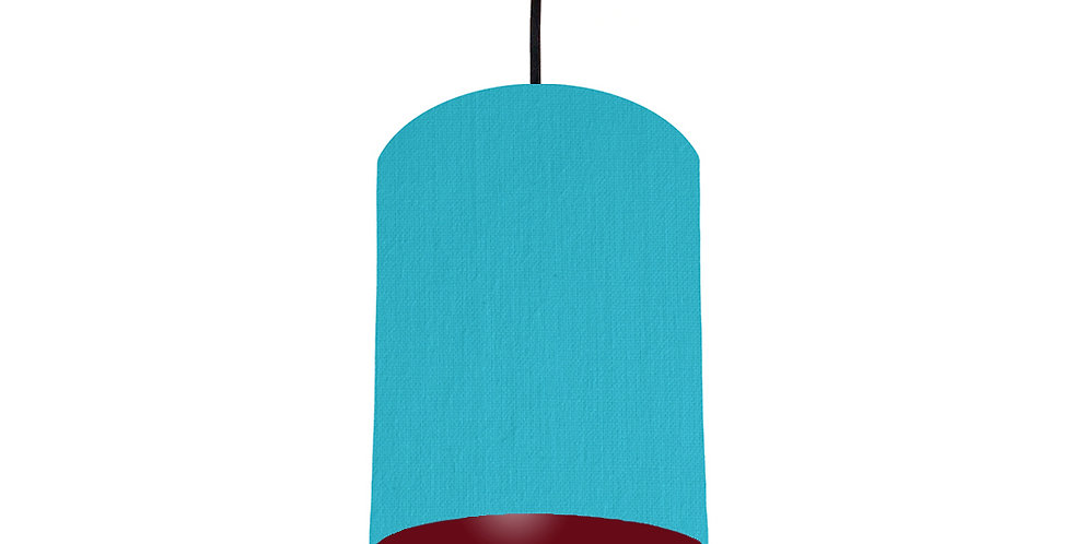 Turquoise & Burgundy Lampshade - 15cm Wide
