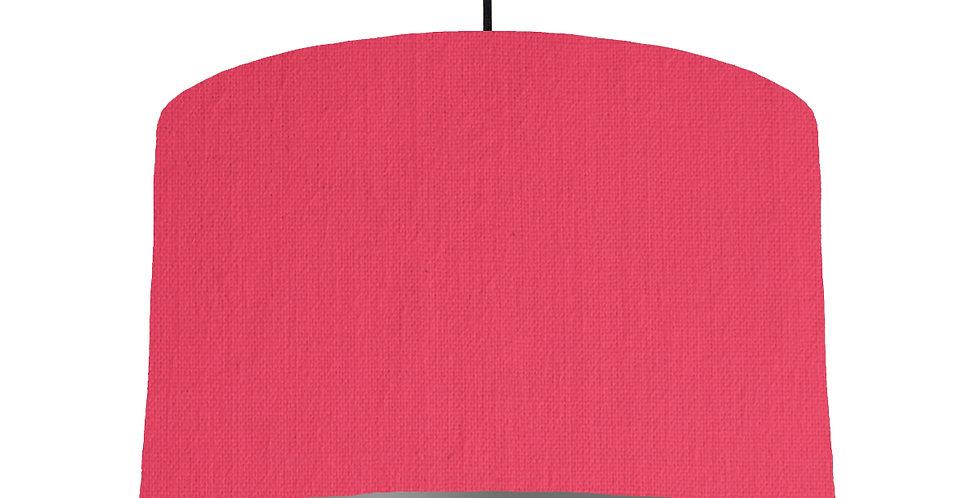 Cerise & Dark Grey Lampshade - 40cm Wide