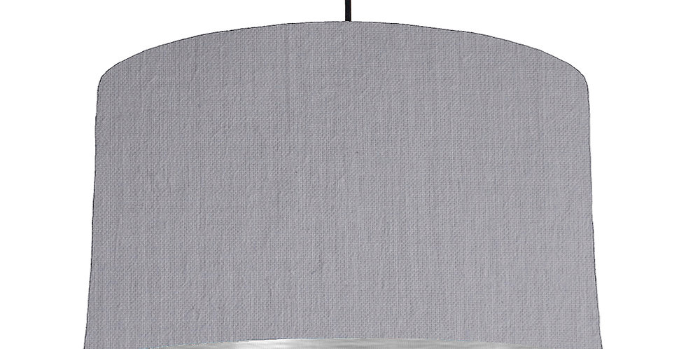 Light Grey & Brushed Silver Lampshade - 50cm Wide