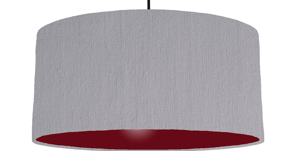 Light Grey & Burgundy Lampshade - 60cm Wide