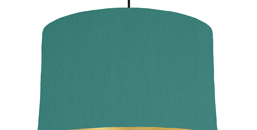 Jade & Brushed Gold Lampshade - 40cm Wide