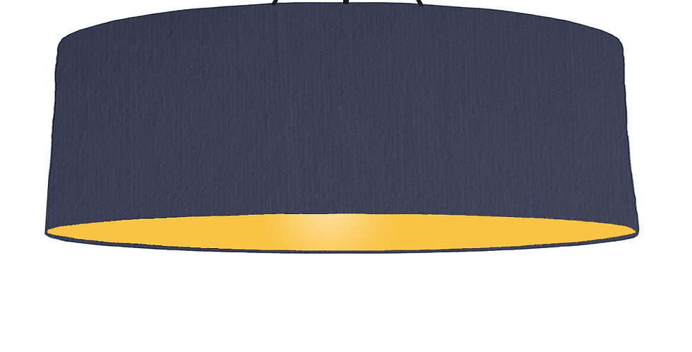 Navy Blue & Butter Yellow Lampshade - 100cm Wide