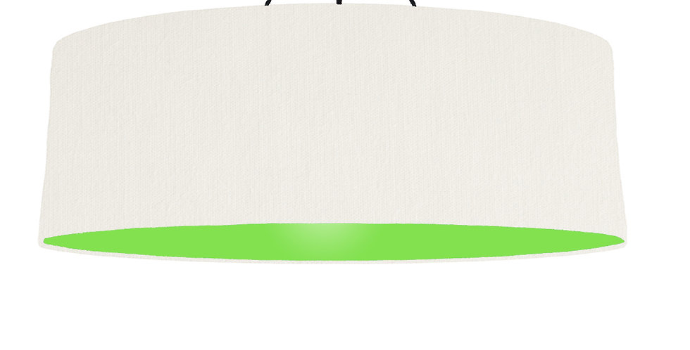 White & Lime Green Lampshade - 100cm Wide