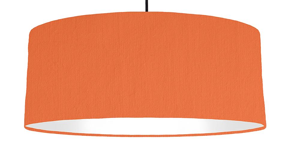 Orange & White Lampshade - 70cm Wide