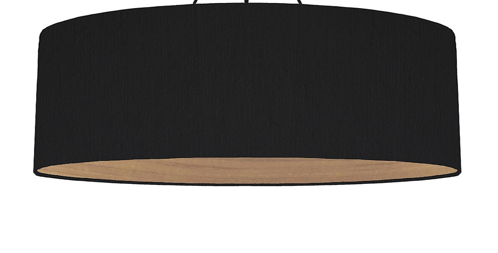 Black & Wooden Lined Lampshade - 100cm Wide