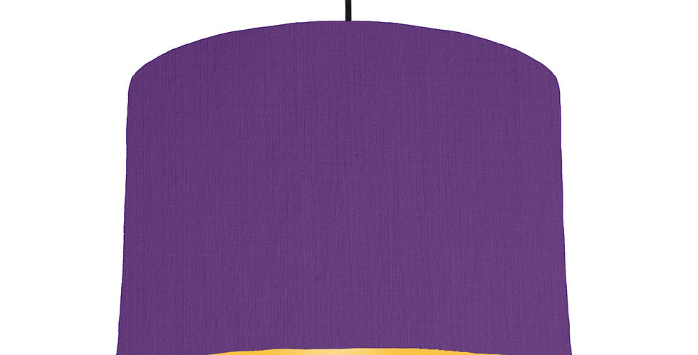 Violet & Butter Yellow Lampshade - 30cm Wide