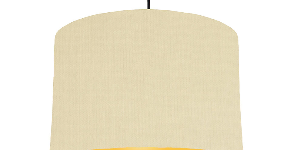 Natural & Butter Yellow Lampshade - 30cm Wide
