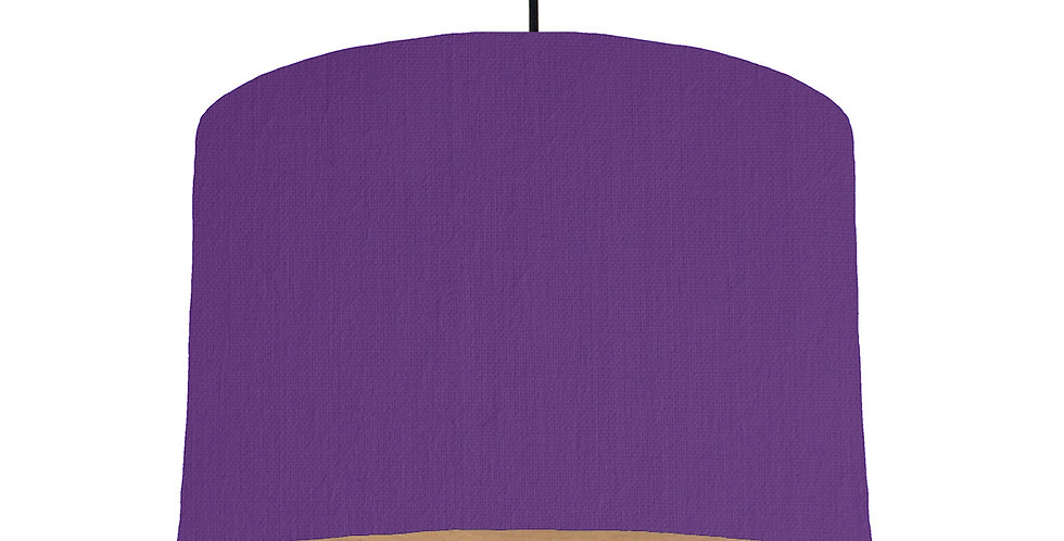 Violet & Wood Lined Lampshade - 30cm Wide