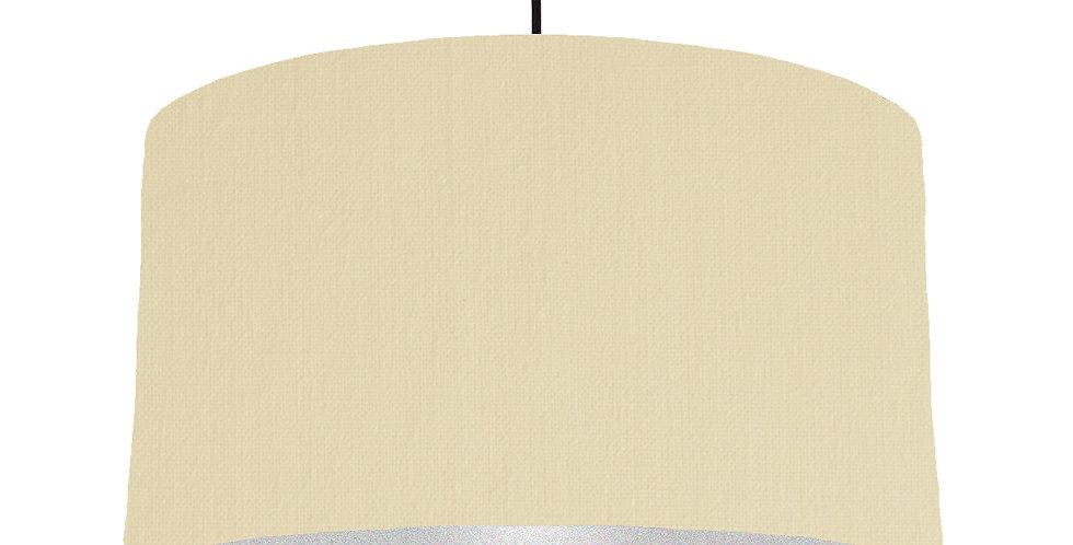 Natural & Silver Matt Lampshade - 50cm Wide