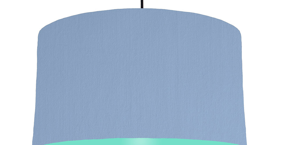 Sky Blue & Mint Lampshade - 50cm Wide