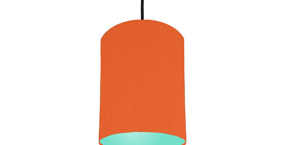 Orange & Mint Lampshade - 15cm Wide