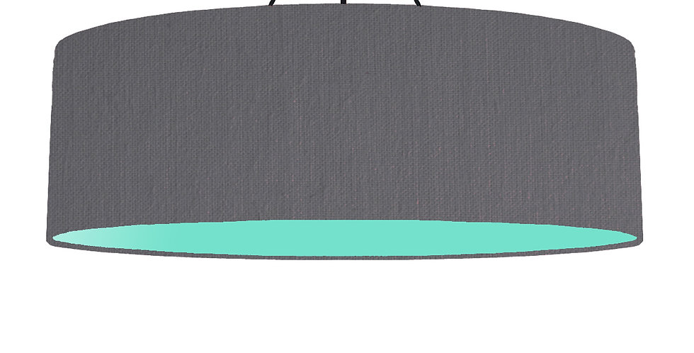 Dark Grey & Mint Lampshade - 100cm Wide