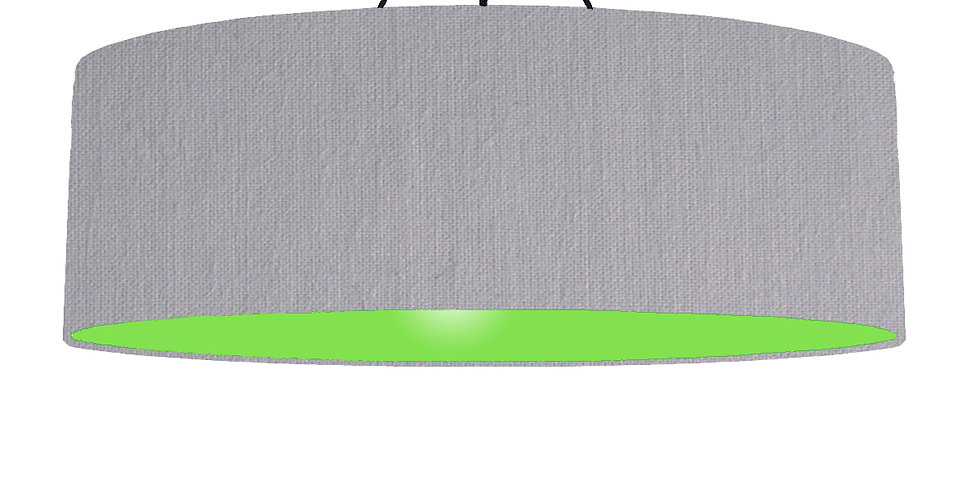 Light Grey & Lime Green Lampshade - 100cm Wide