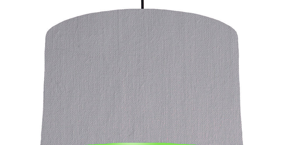 Light Grey & Lime Green Lampshade - 40cm Wide