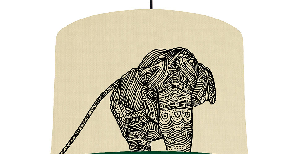 Elephant - Natural & Forest Green Lining