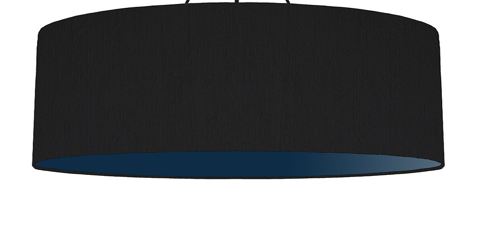 Black & Navy Lampshade - 100cm Wide