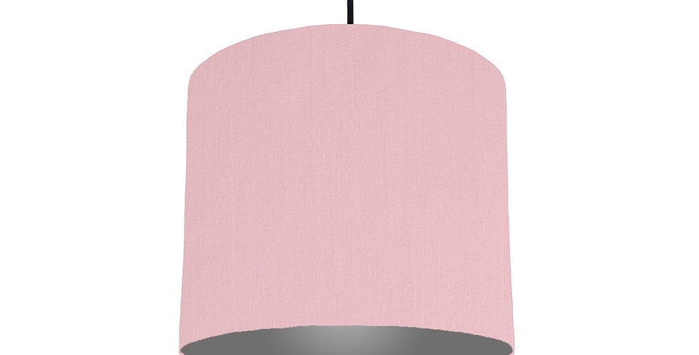 Pink & Dark Grey Lampshade - 25cm Wide
