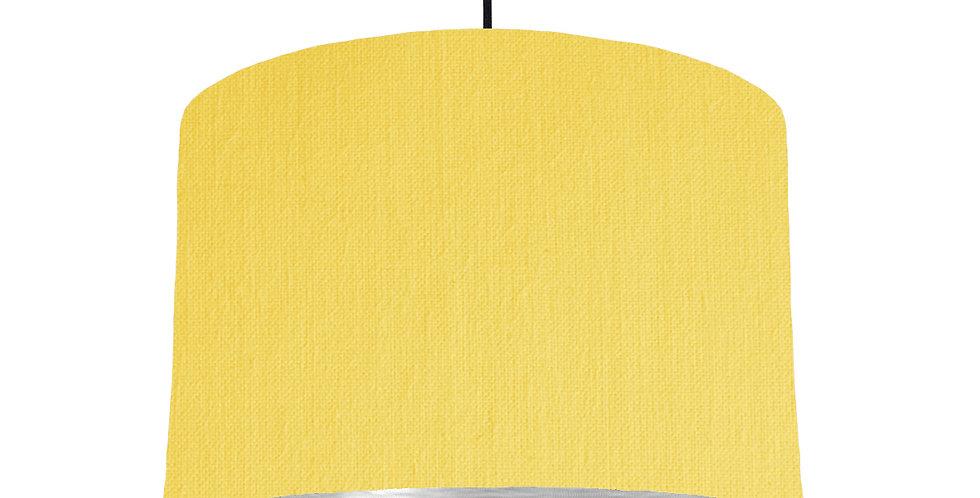 Lemon & Brushed Silver Lampshade - 30cm Wide