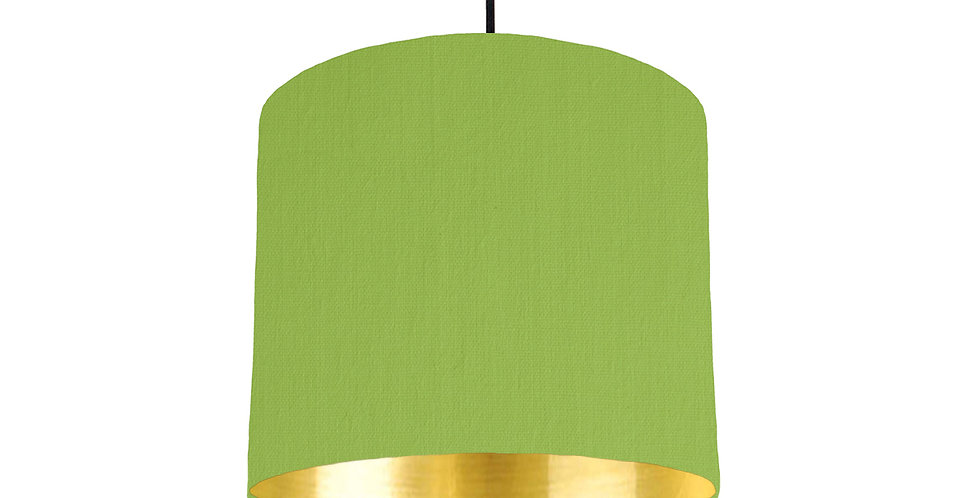 Pistachio & Gold Mirrored Lampshade - 25cm Wide