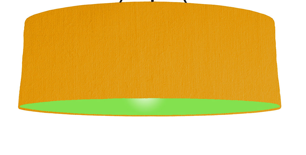 Mustard & Lime Green Lampshade - 100cm Wide