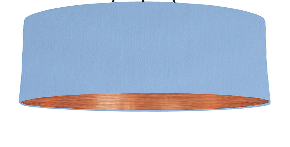 Sky Blue & Brushed Copper Lampshade - 100cm Wide