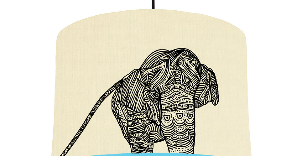 Elephant - Natural & Light Blue