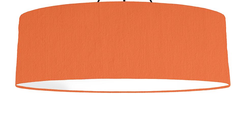 Orange & White Lampshade - 100cm Wide