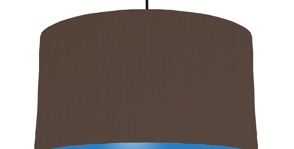 Brown & Bright Blue Lampshade - 50cm Wide