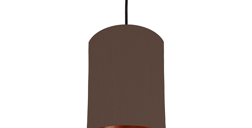Brown & Copper Mirrored Lampshade - 15cm Wide