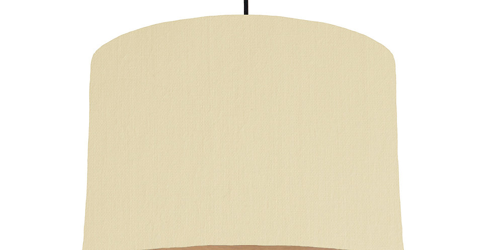 Natural & Wood Lined Lampshade - 30cm Wide