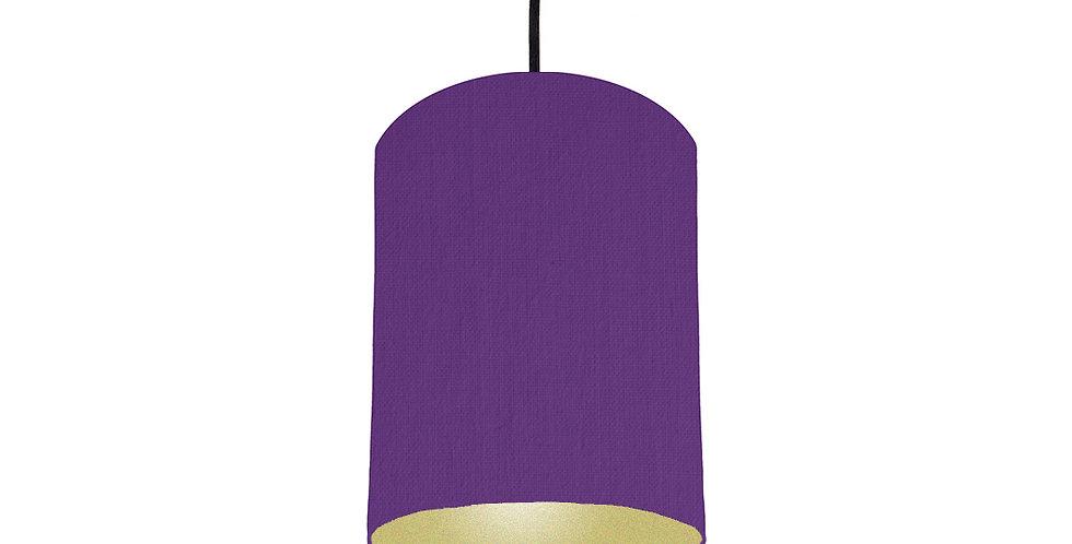 Violet & Gold Matt Lampshade - 15cm Wide