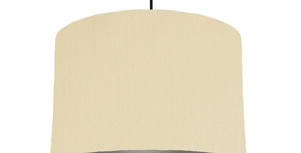 Natural & Dark Grey Lampshade - 30cm Wide