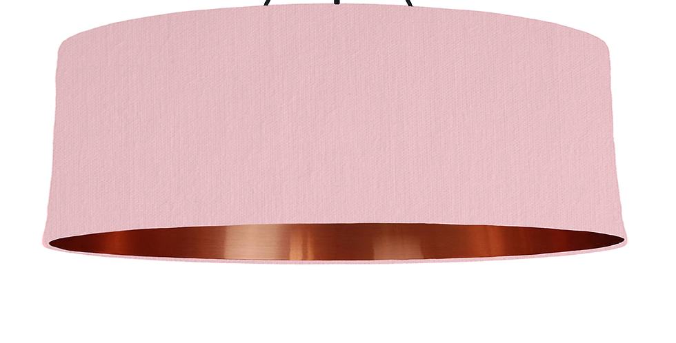 Pink & Copper Mirrored Lampshade - 100cm Wide