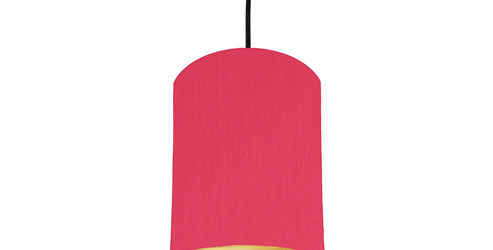 Cerise & Brushed Gold Lampshade - 15cm Wide