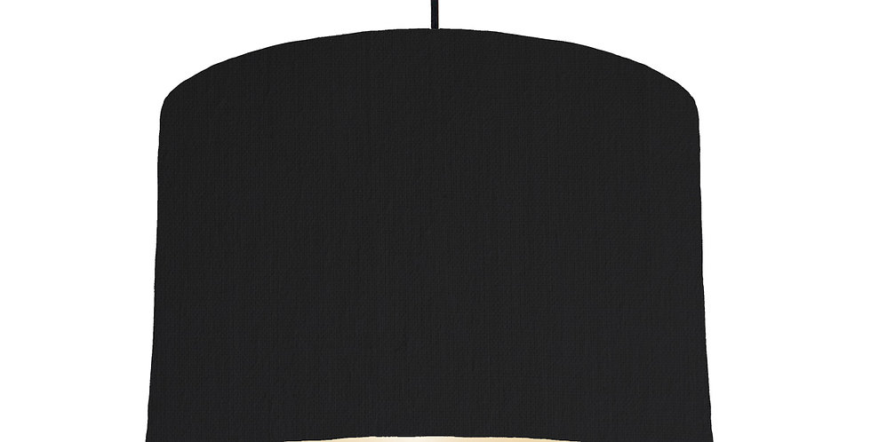 Black & Ivory Lampshade - 30cm Wide