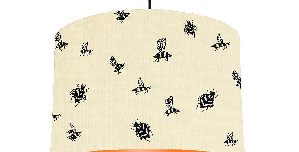 Bumble Bee Lampshade - Natural & Orange