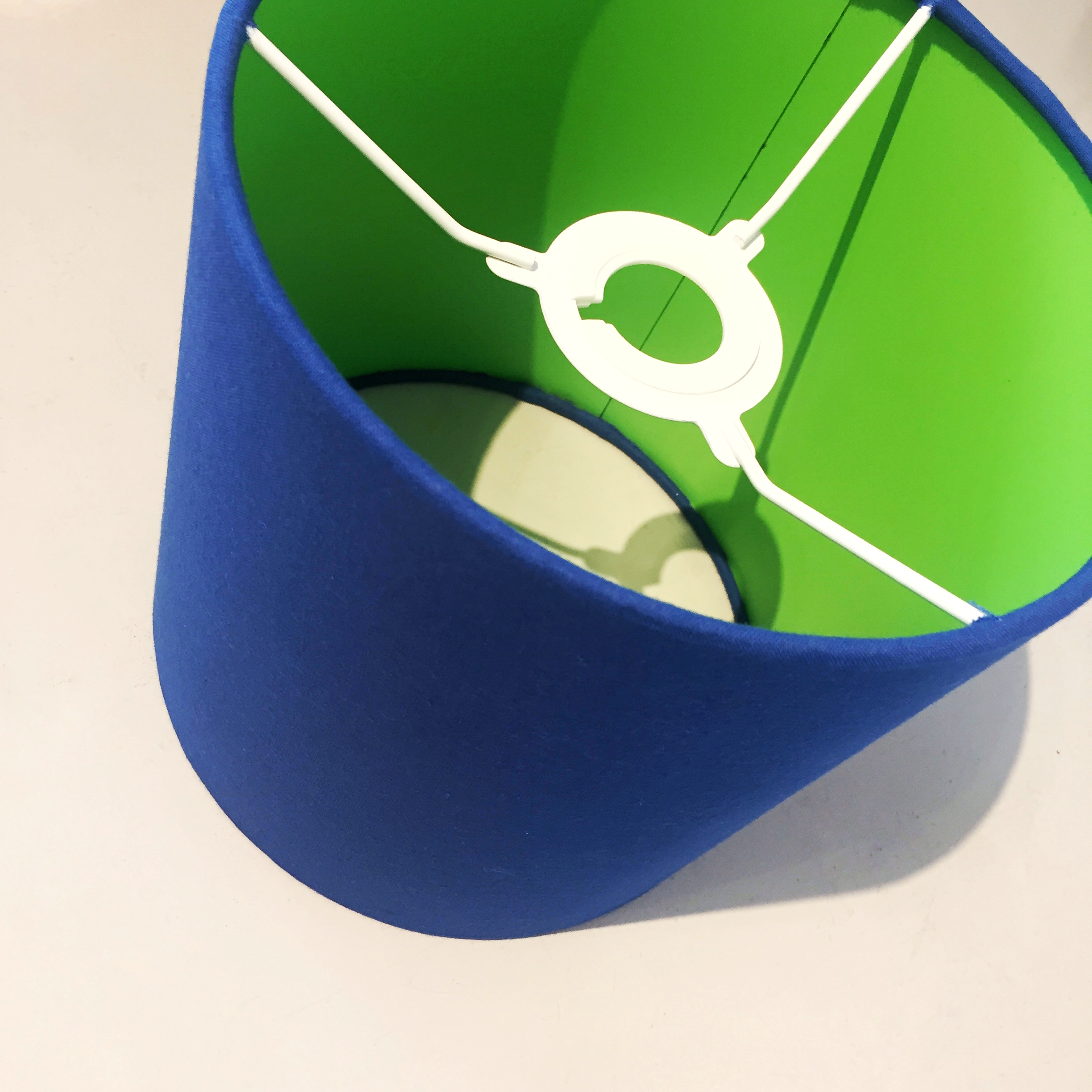 Royal Blue & Lime Lampshade