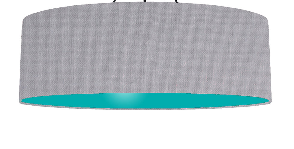 Light Grey & Turquoise Lampshade - 100cm Wide