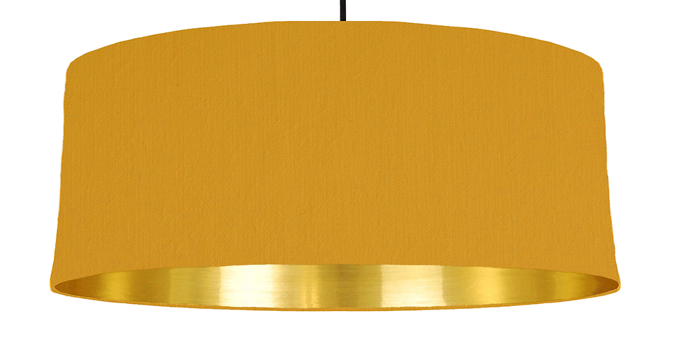Mustard & Gold Mirrored Lampshade - 70cm Wide