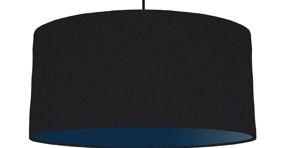 Black & Navy Lampshade - 60cm Wide