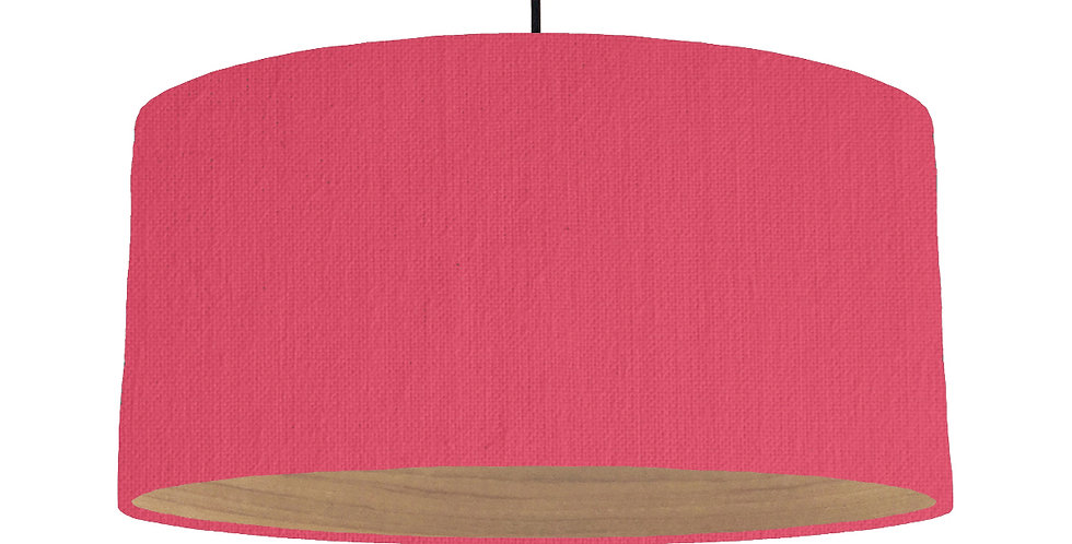 Cerise & Wooden Lined Lampshade - 60cm Wide