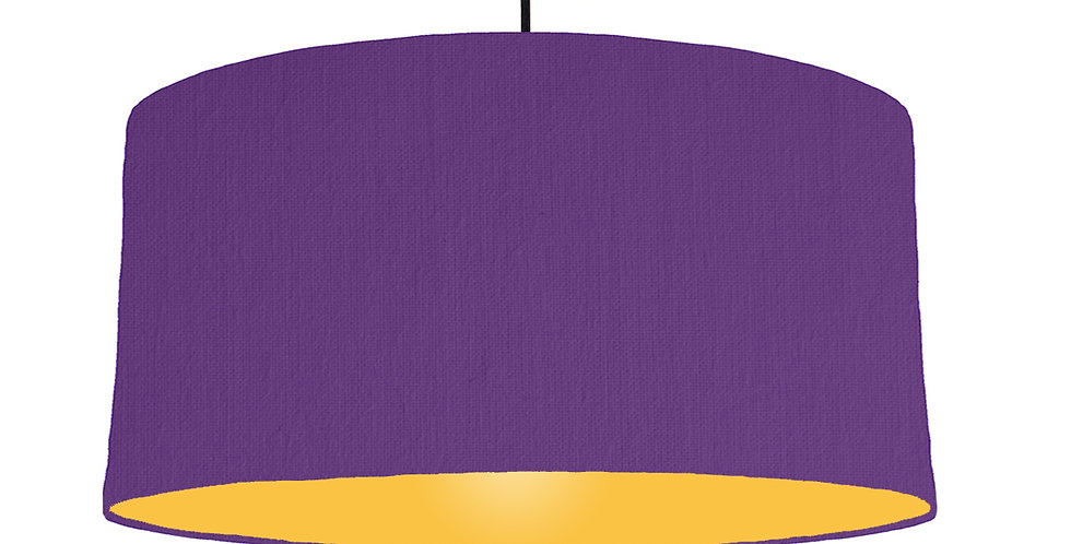 Violet & Butter Yellow Lampshade - 60cm Wide