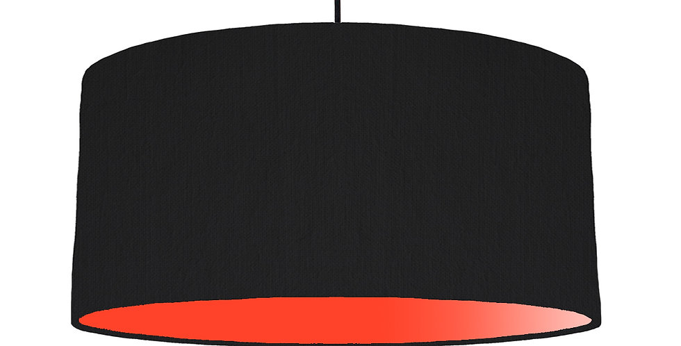 Black & Poppy Red Lampshade - 60cm Wide
