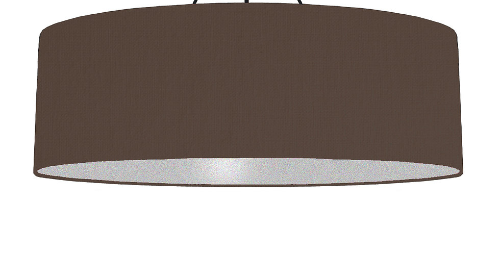 Brown & Silver Matt Lampshade - 100cm Wide