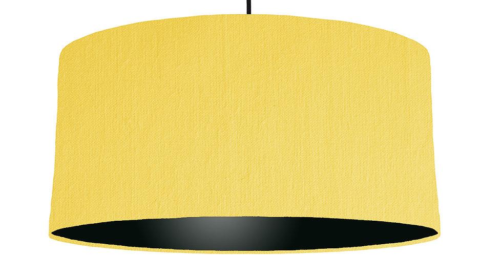 Lemon & Black Lampshade - 60cm Wide
