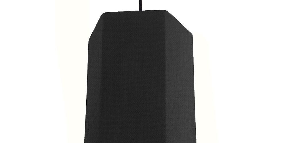 Black & White Hexagon Lampshade - 20cm Wide