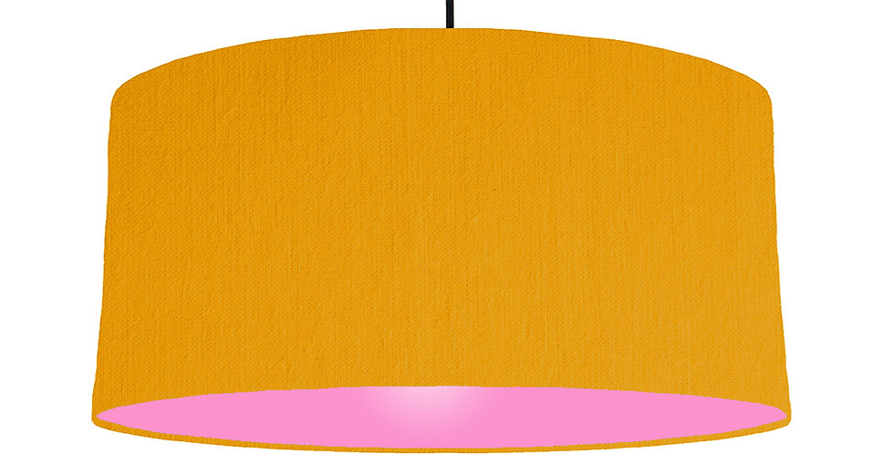 Mustard & Pink Lampshade - 60cm Wide